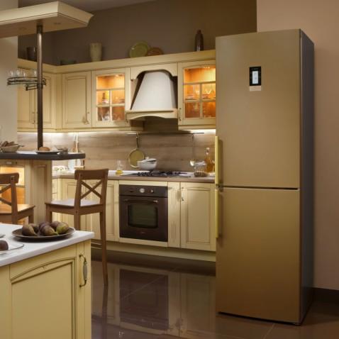 Холодильник бош шоколадного цвета